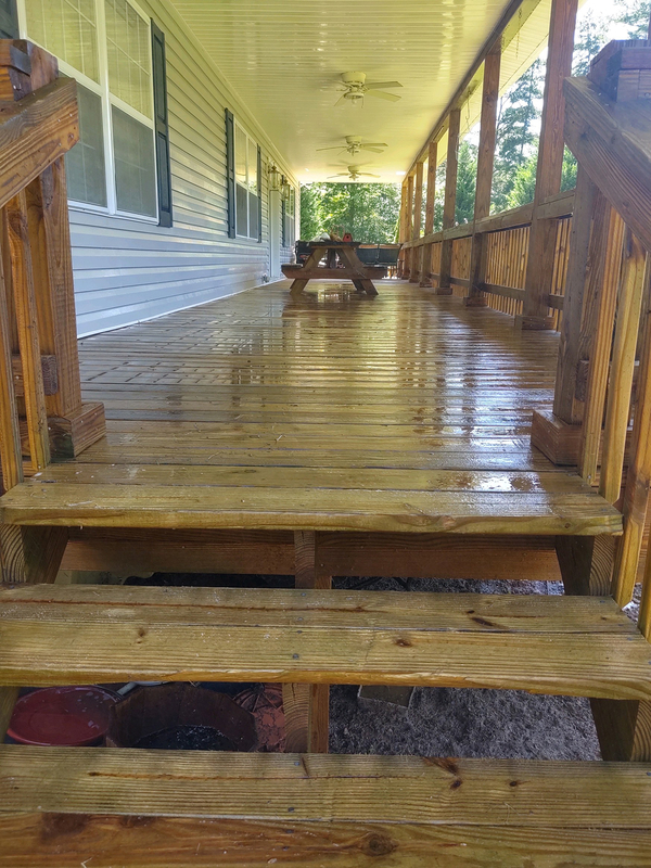 Hydro Clean covered wooden deck cleaned